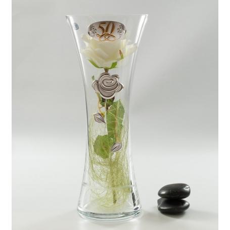 Bohemia Inspiration vase (C1 engraving). Wedding/anniversary gift.