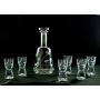 Liquor set. Atelier bottle and Samba shot glass (Petals)