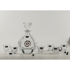 Bohemia Liquor set. Laguna bottle and Quadro shot glass.