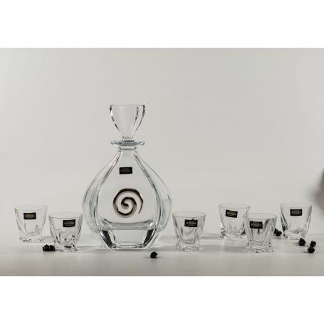 Bohemia Liquor set. Laguna bottle and Quadro shot glass.