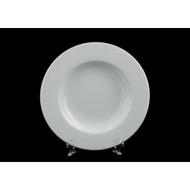 Deep, white plate. Coimbra design. White collection.