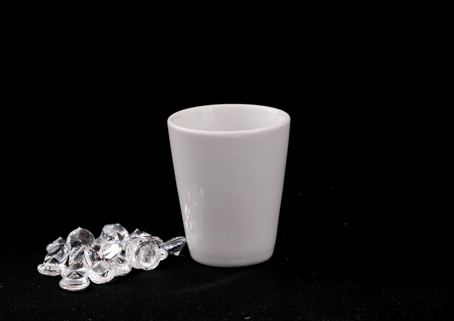 Chupito porcelana Blanca chato mus