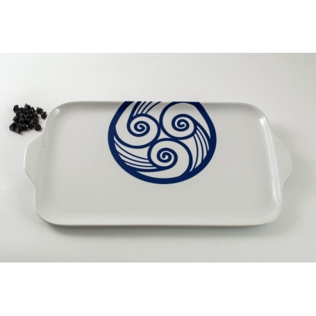Porcelain platter Gracia. Lua collection.