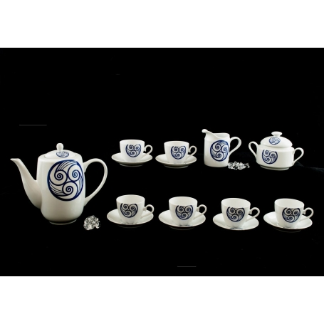 Nine-piece coffee set Volare. Lua collection.