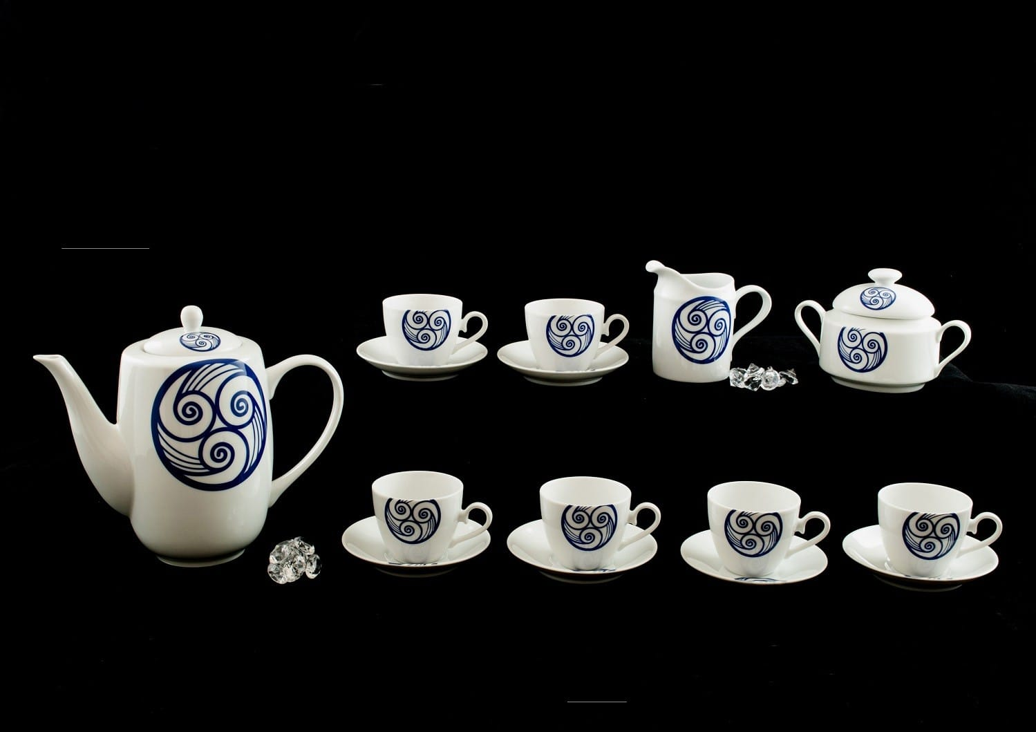 Nine-piece coffee set Volare. Lua collection.