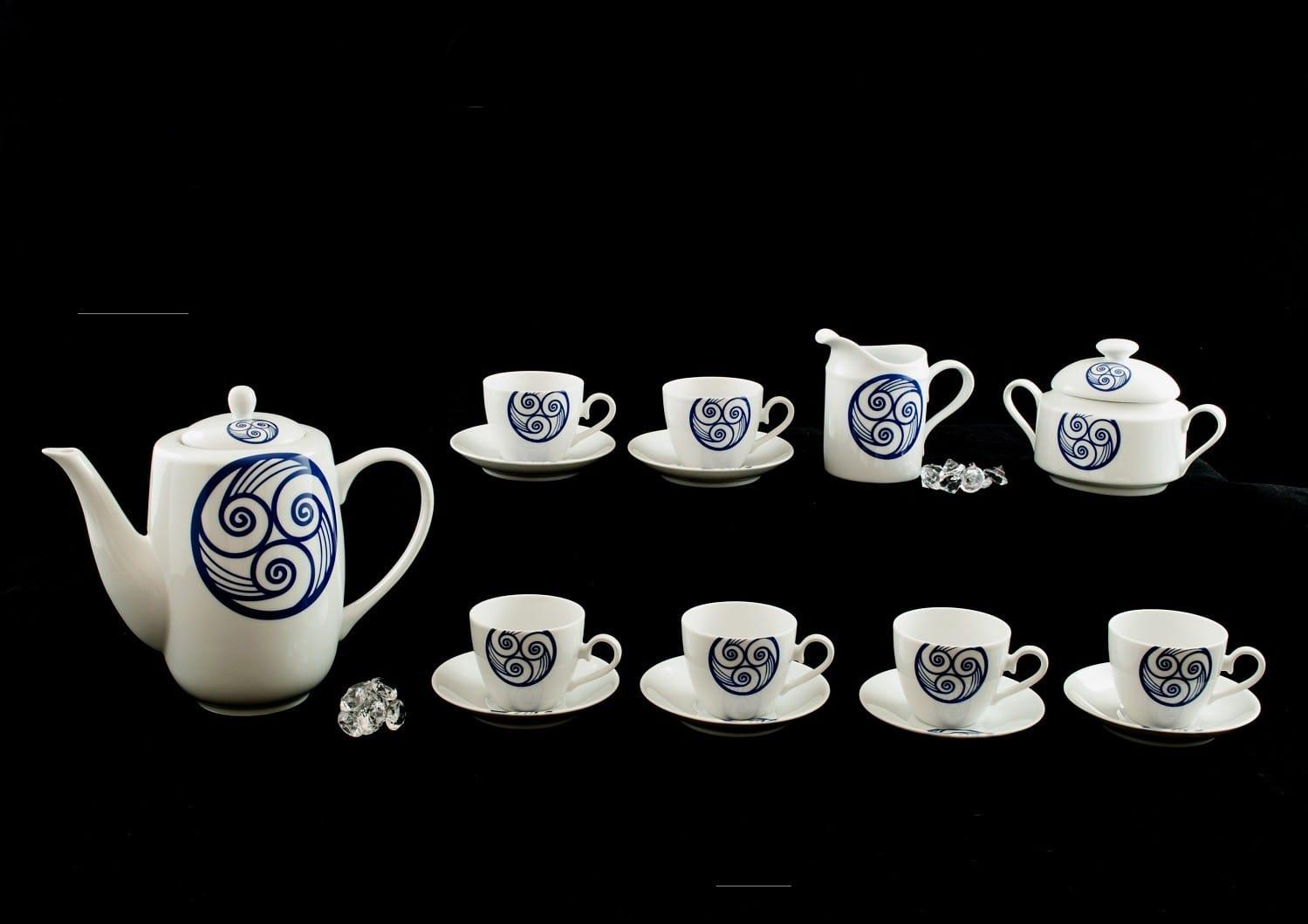 Set de 9 piezas para café Volare col. Lúa