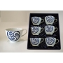 Six-mug breakfats set. Volare design, Lua collection.