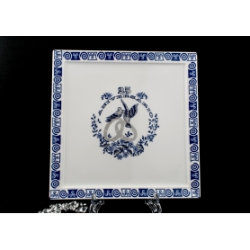 Porcelain tray for Silver anniversary gift. Celta collection.
