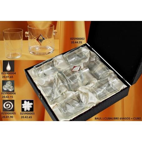 Juego de cubalibre con seis vasos y cubo (talla E5)