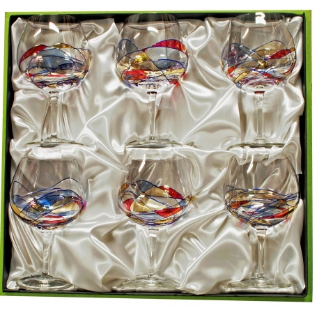 Six-glass Gin and Tonic Red Milano set
