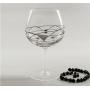 Six-glass Gin and Tonic set. Black/Silver Milano