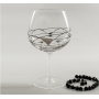 Gin and Tonic Black/Silver Milano set. Two glasses and stirrers.