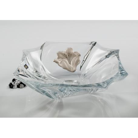 Neptune centrepiece. Bohemian Glass