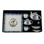 Silver Anniversary tea set Volare: 2 cups, sugar bowl, teapot and tray. Celta collection.