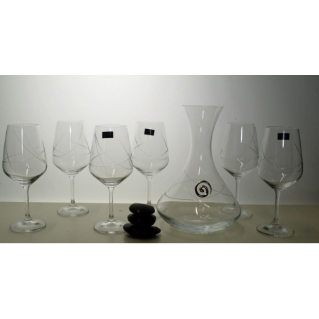 Ultima 450 wine set. 6 glasses and decanter 31AA09 (E5 engraving)