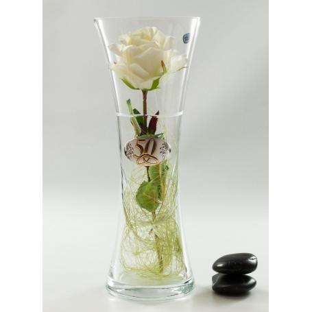 Bohemia Inspiration vase (Corona engraving). Wedding/anniversary gift.
