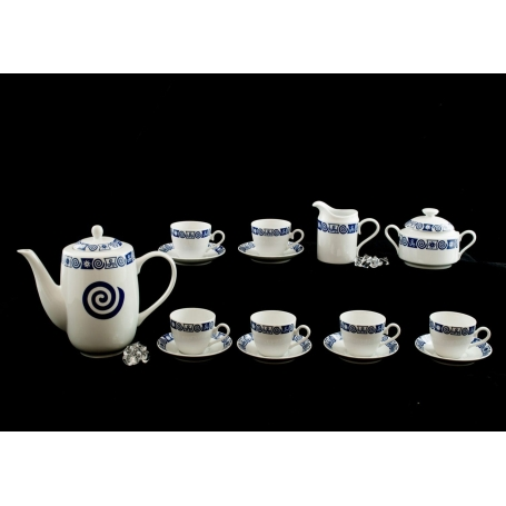 Nine-piece coffee set Volare. Celta collection.