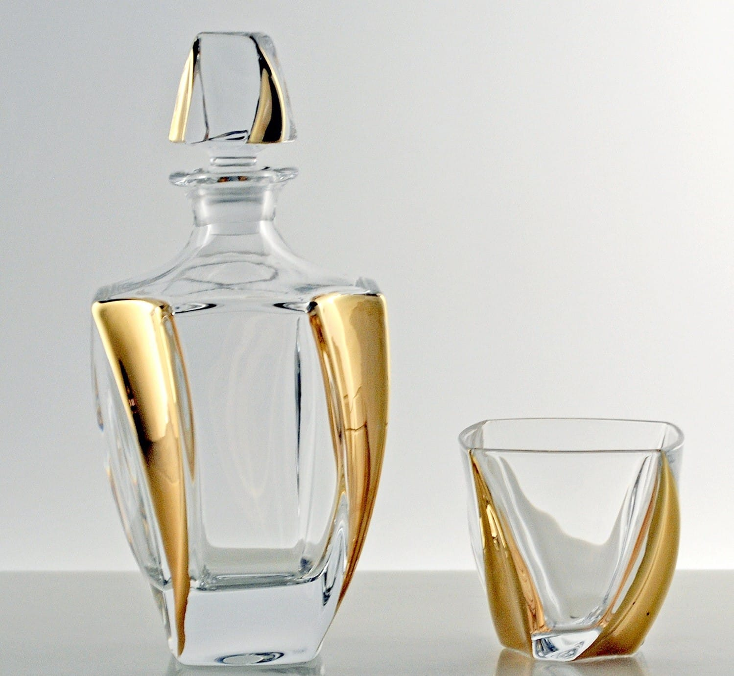 Juego de whisky Neptune Bohemia Oro