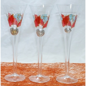 X.MAS champagne flutes. Wedding gift set.