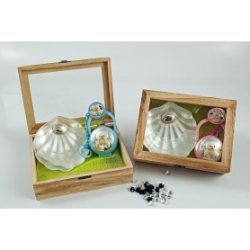 Children's trunk. Pacifier and nacre shell