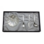 Baptism gift set. Nacre shell and cutlery
