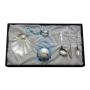 Baptism gift set. Pacifier, cutlery and nacre shell