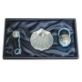Baptism gift set. Pacifier and nacre shell