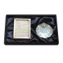 Baptism gift set. Photo frame and nacre shell