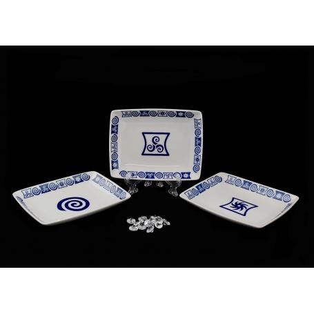 Plato rectangular para aperitivos col. Celta