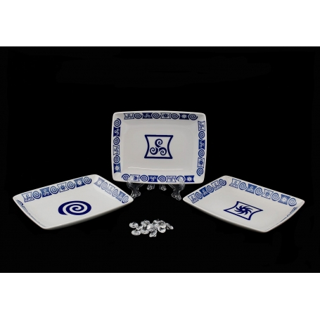 Rectangular appetizers plate. Celta collection.