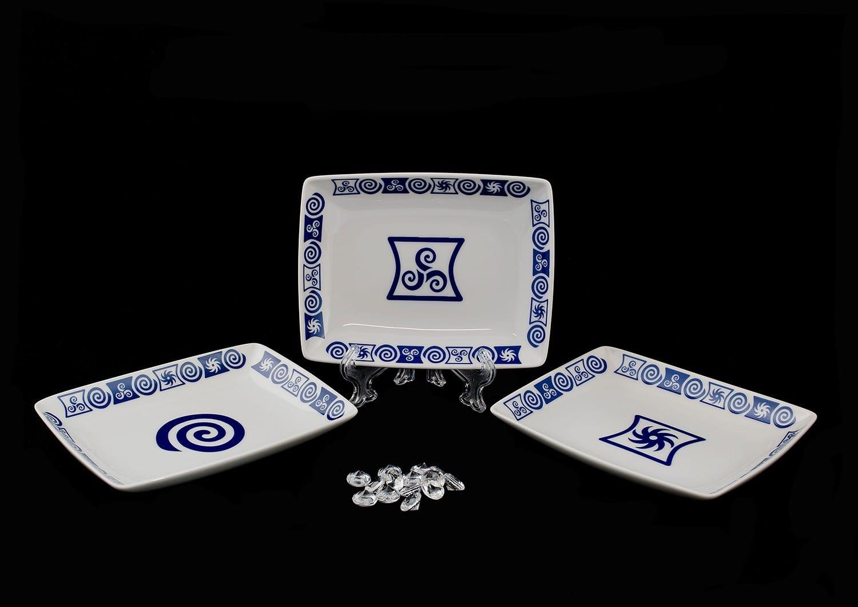 Plato rectangular col. Celta
