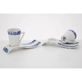 Six-cup coffee set. Espá design, Celta collection.