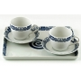 Two-cup and Macau tray coffee set. Celta collection.