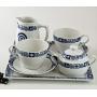 Five-piece breakfast set, incl. Marcador tray. Volare design, Celta collection.