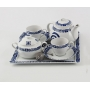 Six-piece breakfast set, incl. Marcador tray. Volare design, Celta collection.