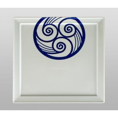 Bandeja cuadrada porcelana Marcador Lúa 30 cm