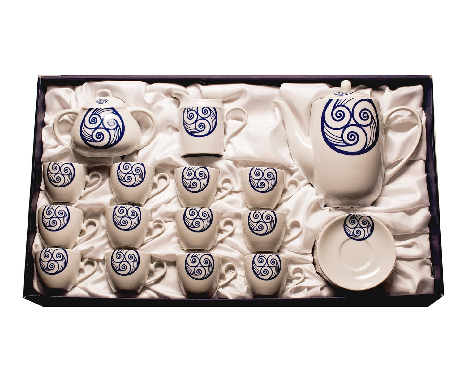 Fifteen-piece coffee set Volare. Lúa collection.