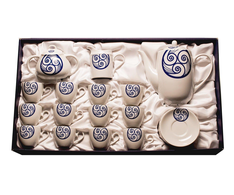 Set de 15 piezas para café Volare col. Lúa
