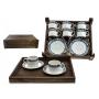 Juego de té Pombal 6 piezas en caja de madera col. Celta
