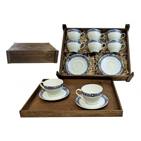 Juego de desayuno Volare 6 pz. en caja de madera col. Celta
