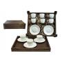 Juego de té Volare 6 piezas en caja de madera col. Blanca