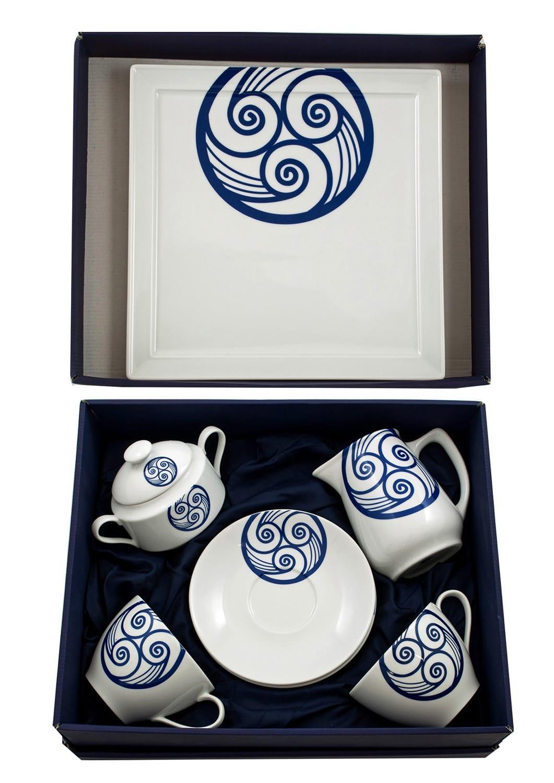Seven-piece breakfast set. Volare design, Celta collection.