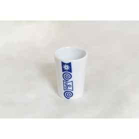Porcelain shot glass Mus. Celta design.
