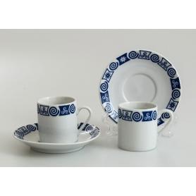 Pocillo y plato de café Pombal col. Celta