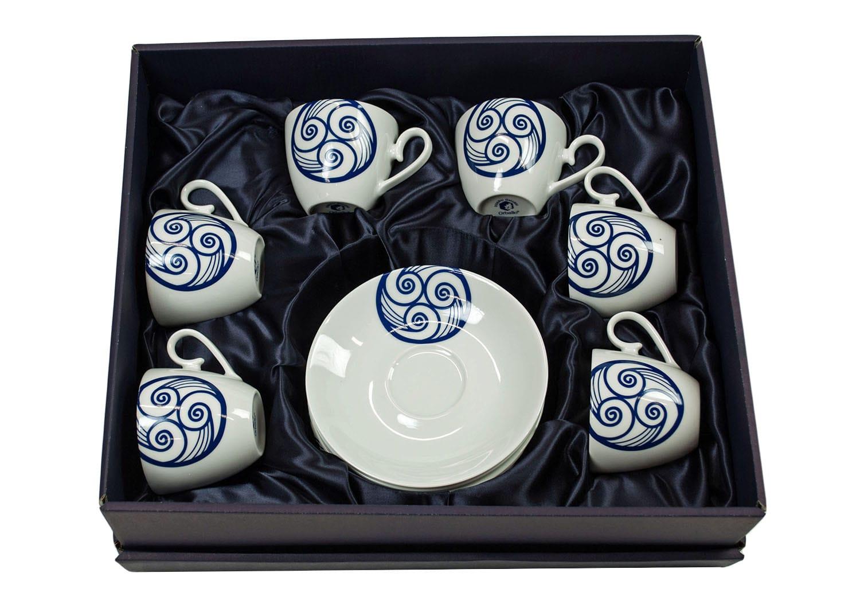Six-piece, Volare coffee set. Lua collection.