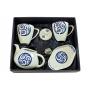 Five-piece Mug set. Volare design, Lua collection.