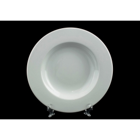 Coimbra deep plate. White collection.