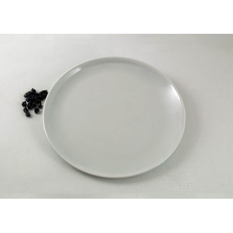 Round large Pizza plate. White collection.