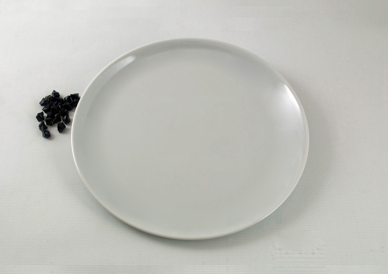 Plato grande tortilla pizza col. Blanca