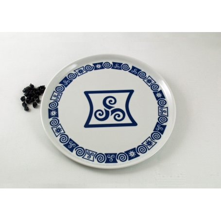 Round large Pizza plate. Celta collection.